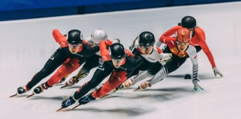 Courtney Lee Sarault and Alyson Charles compete at ISU Four Continents Championships
