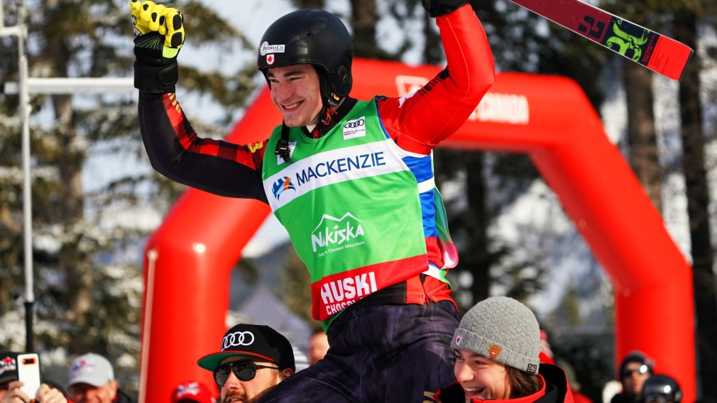 Canadians celebrate three medals at Ski Cross World Cup in Nakiska
