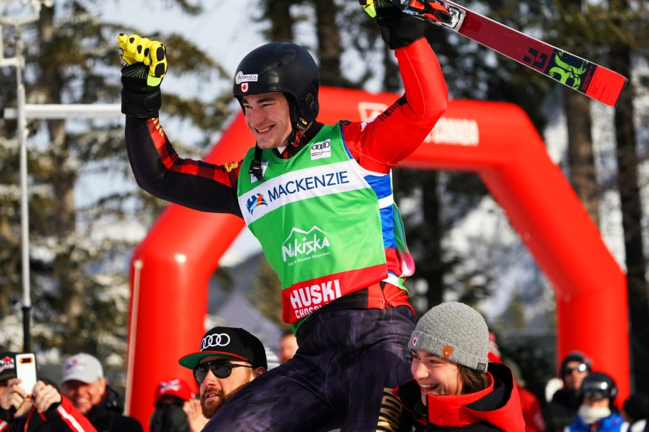Reece Howden captures first World Cup title on January 18th, 2020 in Nakiska, Alberta.