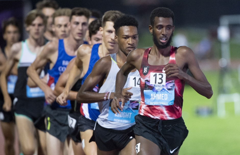 Mo Ahmed leads the pack at the 2019 Canadian Championships