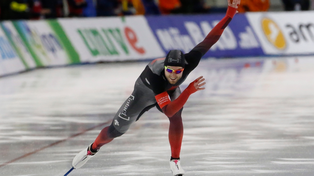 A speed skater competes in the 500m