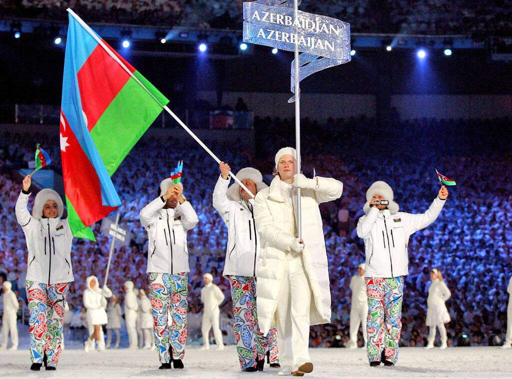 While most teams stick to solids, Team Azerbaijan made a bold statement by wearing playful Paisley pants at the 2010 games in Vancouver.