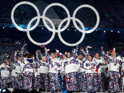 Czech Republic athletes during the opening ceremony for the Vancouver 2010 Olympics in Vancouver, British Columbia, Friday, Feb. 12, 2010.