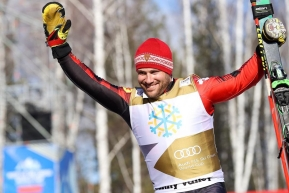 Kevin Drury at FIS Ski Cross World Cup in Happy Valley, Russia on February 23, 2020. (Photo from FIS)