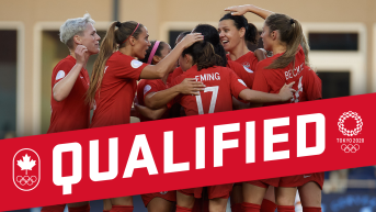 """""""Qualified"""" graphic of the women's soccer team"""