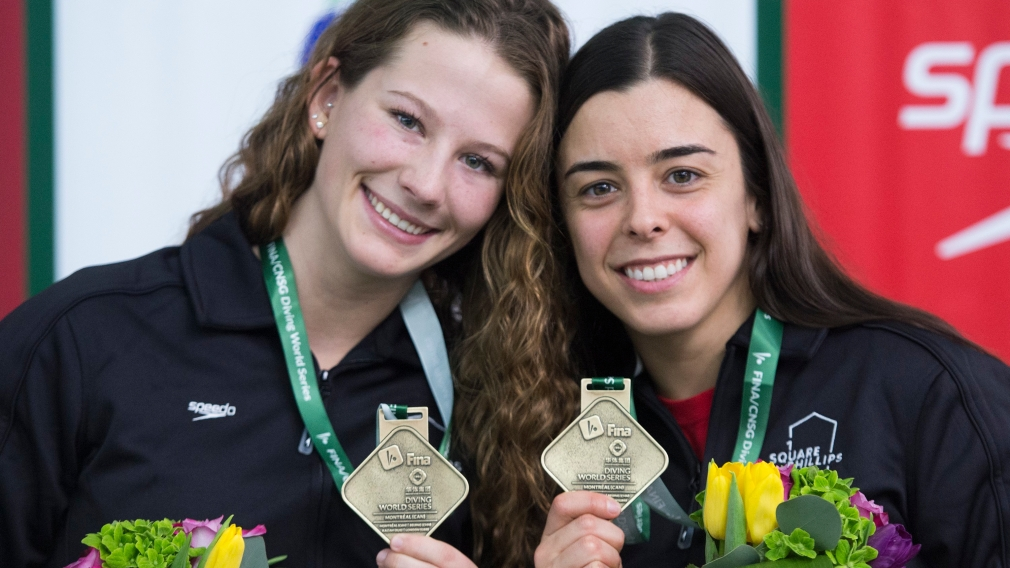 Canada wins two gold, one bronze at FINA Diving World Series in Montreal