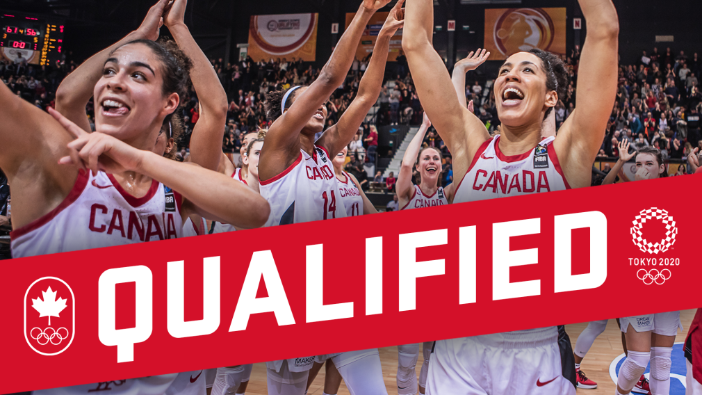 """Qualified"" graphic of the women's basketball team team"