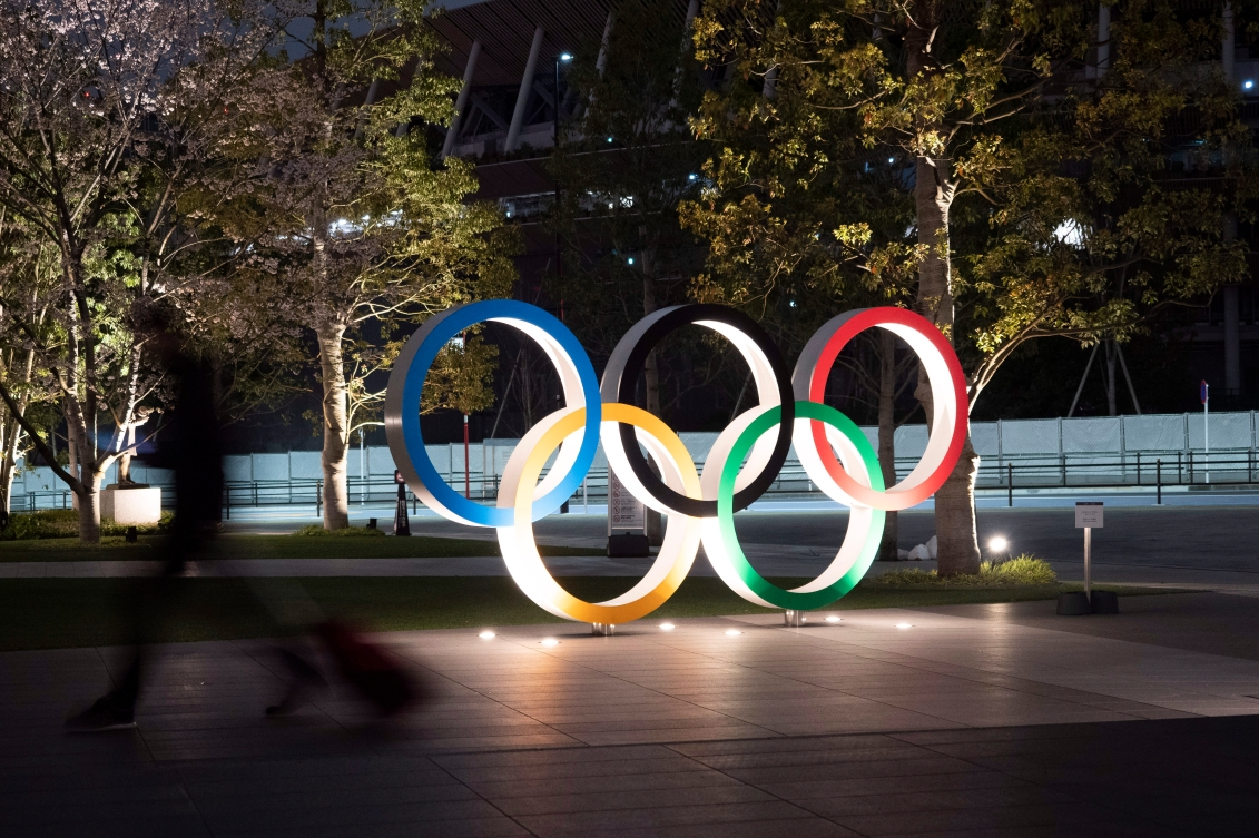 The Olympic rings are seen Monday, March 30, 2020, in Tokyo. The Tokyo Olympics will open next year in the same time slot scheduled for the Tokyo 2020 Olympic Games.