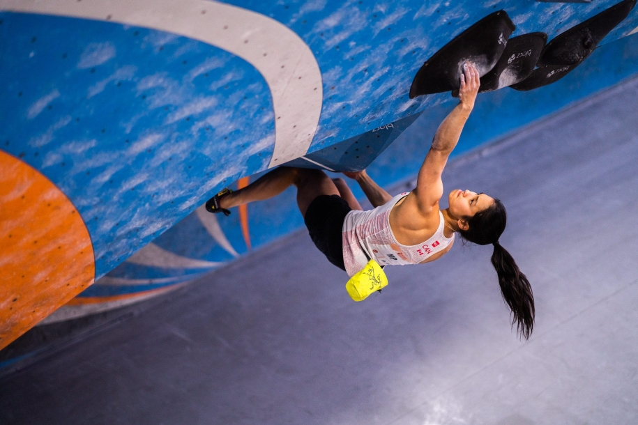 Alannah Yip climbs her way to victory at the 2020 IFSC Pan American Championships in Los Angeles.
