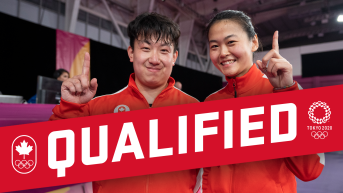 Qualified graphic with photo of Mo Zhang and Eugene Wang