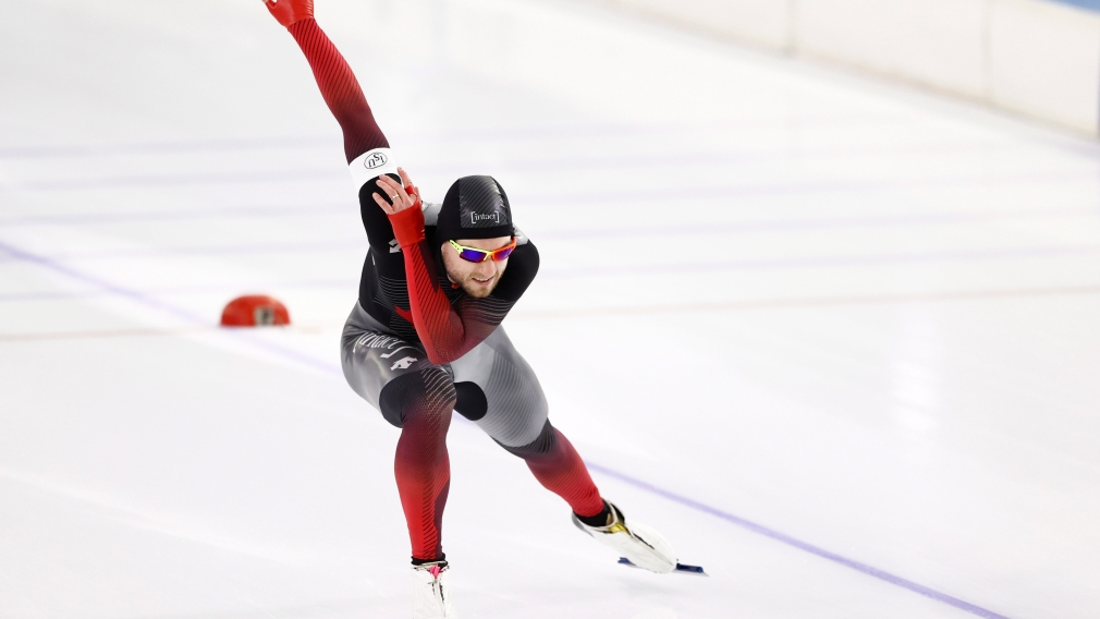 Laurent Dubreuil skates to silver at the World Cup finals in the Netherlands