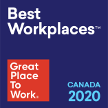 Best Workplaces in Canada 2020 badge