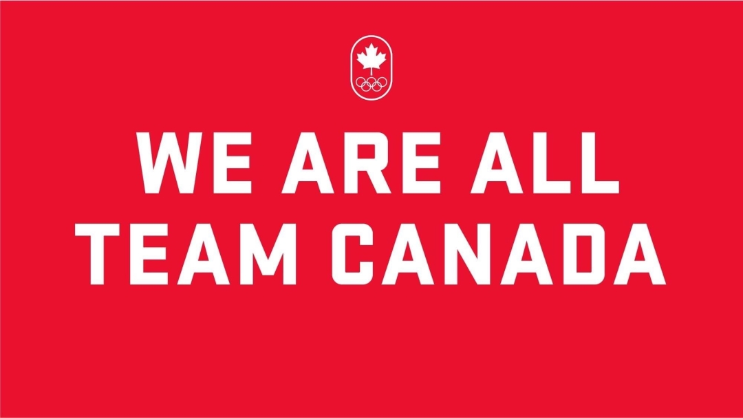 White text over red background reading We Are All Team Canada