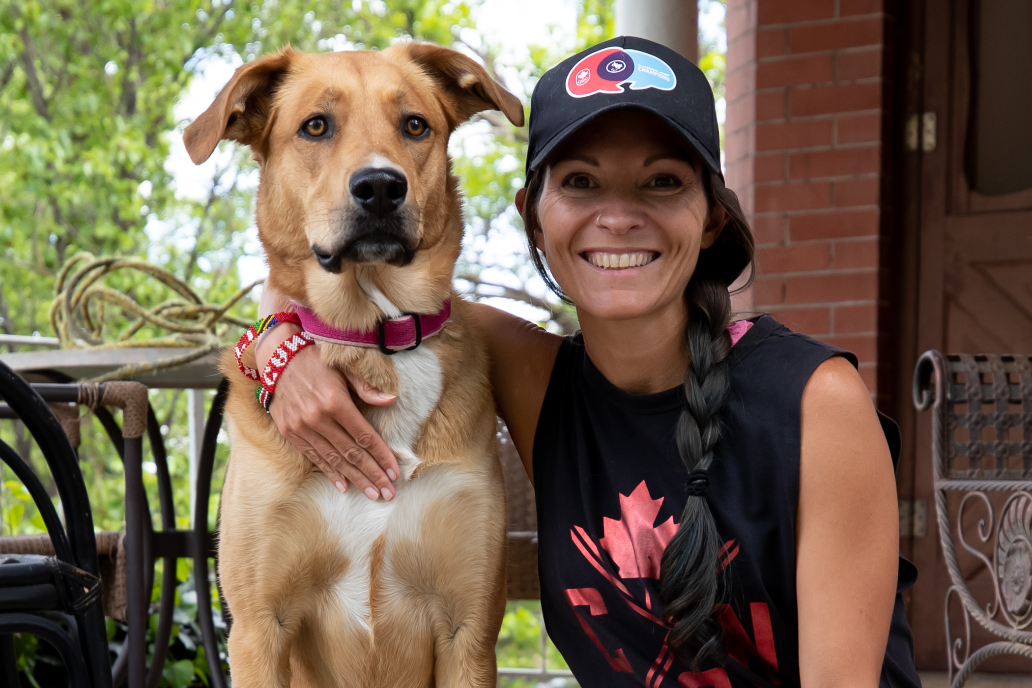 Lanni Marchant and her dog Elle
