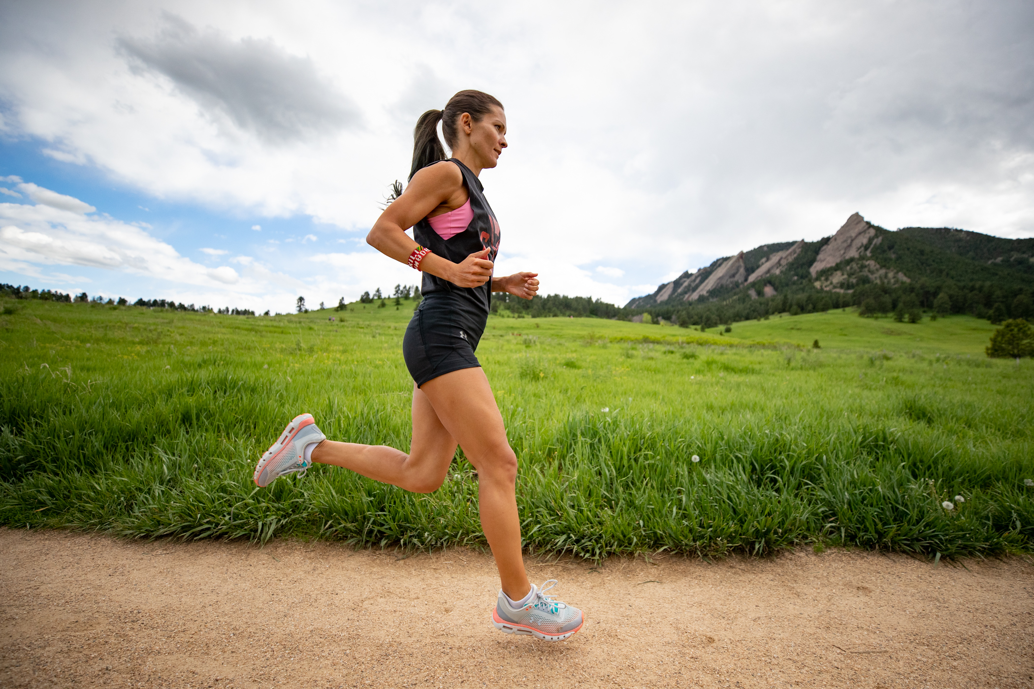 Lanni Marchant running in Boulder, Colorado