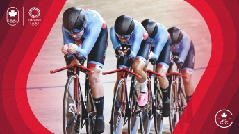 Graphic image of cycling team pursuit