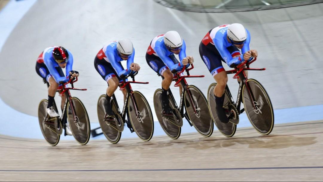 Men team pursuit (r-l, De Haitre, Foley, Lamoureux, Gee)