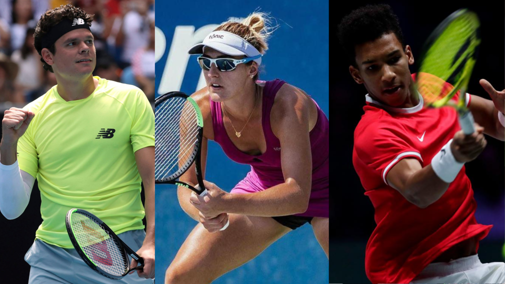 Team Canada Tokyo 2020 tennis hopefuls in action at the US Open