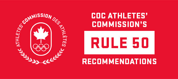 COC Athletes' Commission Rule 50 Recommendations