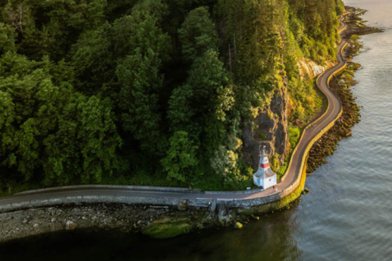 A look from above at the Seawall pathway