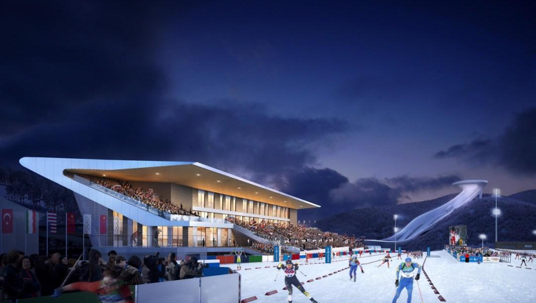 Zhangjiakou National Biathlon Centre-Rendering Drawing