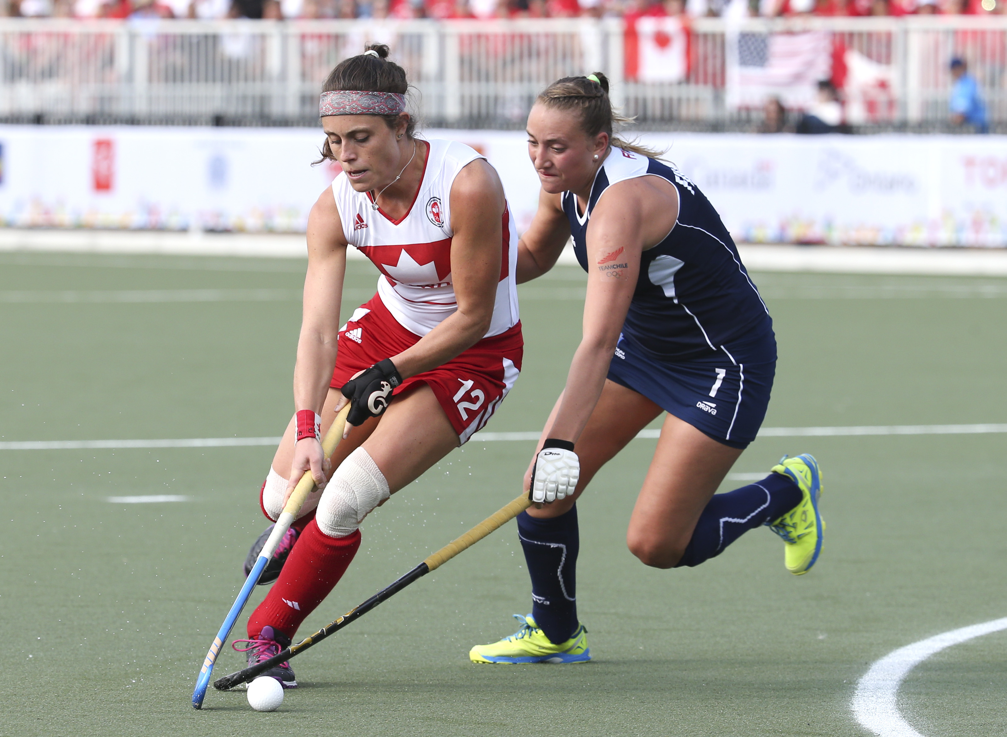Thea Culley competes at the 2015 Pan American Games
