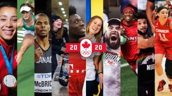Mosaic of athletes