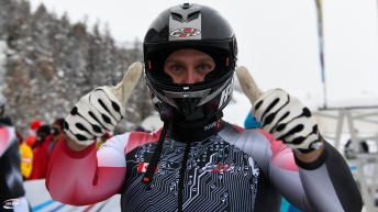 The team of Justin Kripps, Ryan Sommer, Ben Coakwell and Cam Stones won a four-man bobsleigh bronze medal at the World Cup on Sunday January 17, 2021 in St. Moritz, Switzerland. (Photo by: IBSF/Viesturs Lacis)