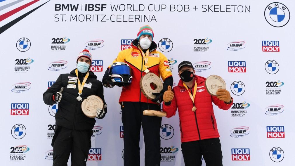 Bobsleigh: Team Kripps celebrates bronze in St. Moritz