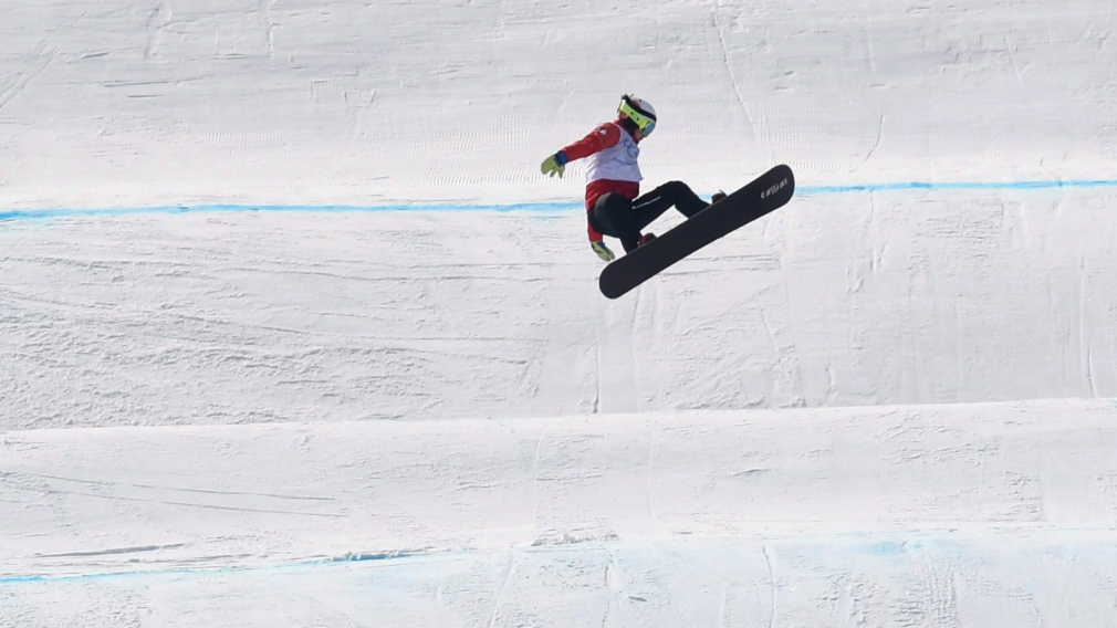 Eliot Grondin races to snowboard cross silver in Italy