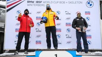 Team Kripps wins silver in Winterberg, Germany on January 10, 2021