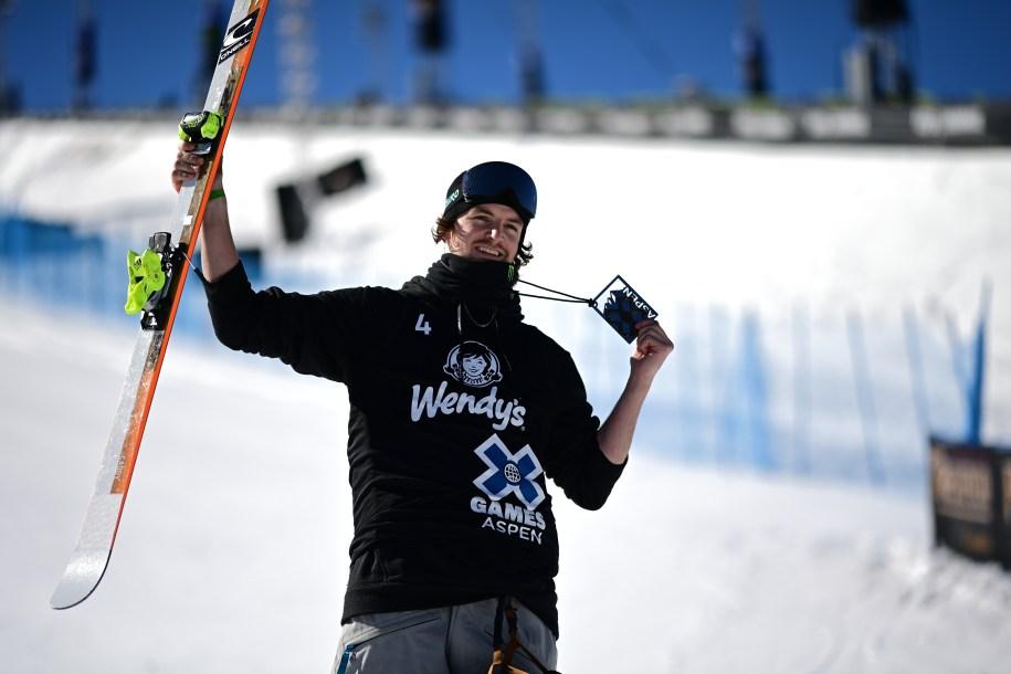 Evan McEachran at the medal ceremony