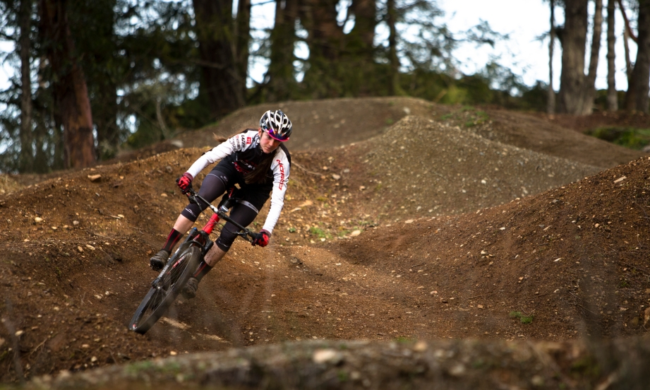Haley Smith trains at Bear Mountain in Victoria B.C. Canada.