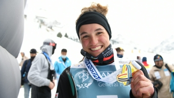 Marion Thenault smiles after winning gold