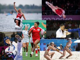 A collage of Team Canada athletes