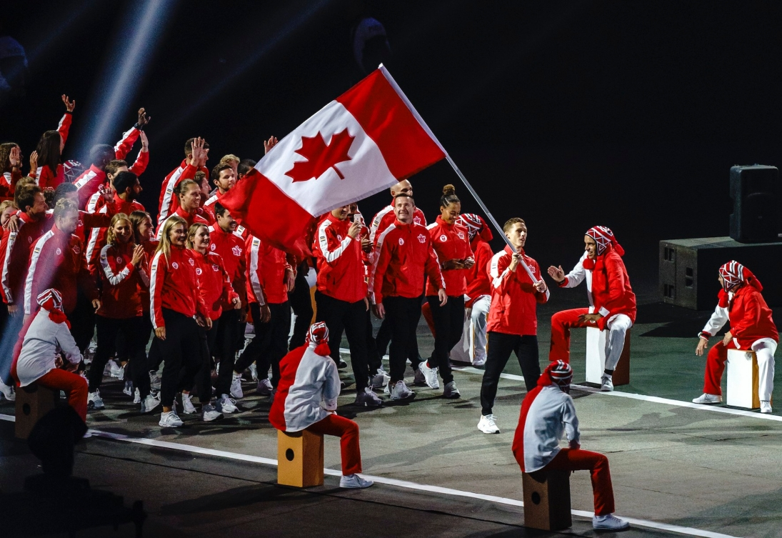 LIMA, Peru - Members of Team Canada, lead by flag bearer Scott Tupper, enter the Estadio Nacional to officially start the Lima 2019 Pan American Games on July 26, 2019. Photo by Dave Holland/COCTHE CANADIAN PRESS/HO, COC, Dave Holland