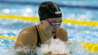 Swimmer doing breaststroke