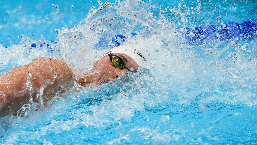 Ruslan Gaziev swims freestyle