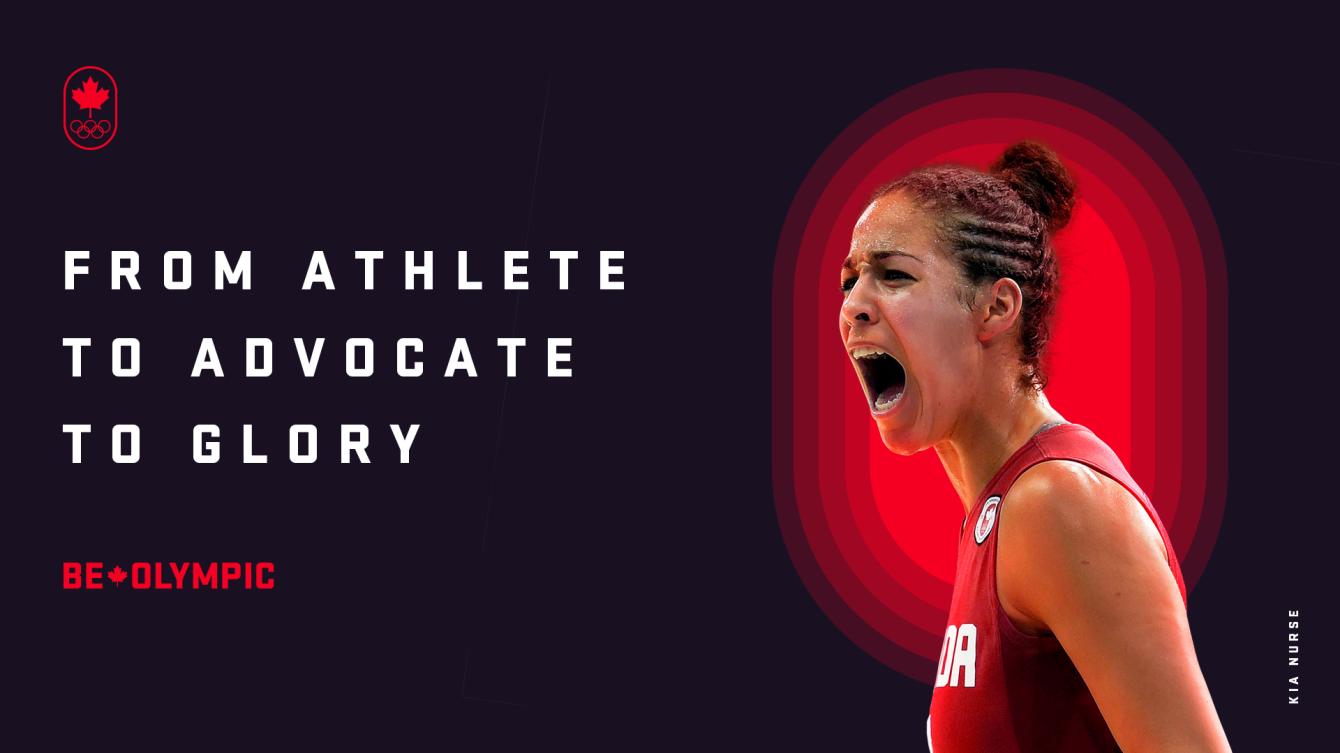 Glory From Anywhere campaign image featuring Kia Nurse