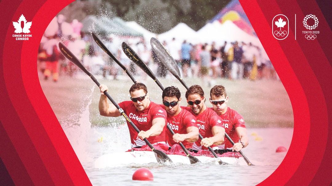 4 men compete in kayak race event