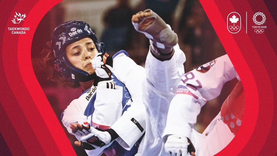 Skylar Park does a taekwondo kick