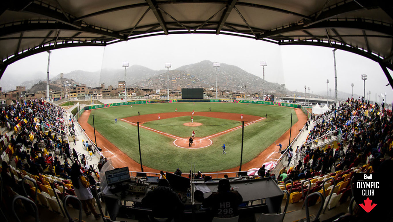 The view of a baseball stadium from the stands