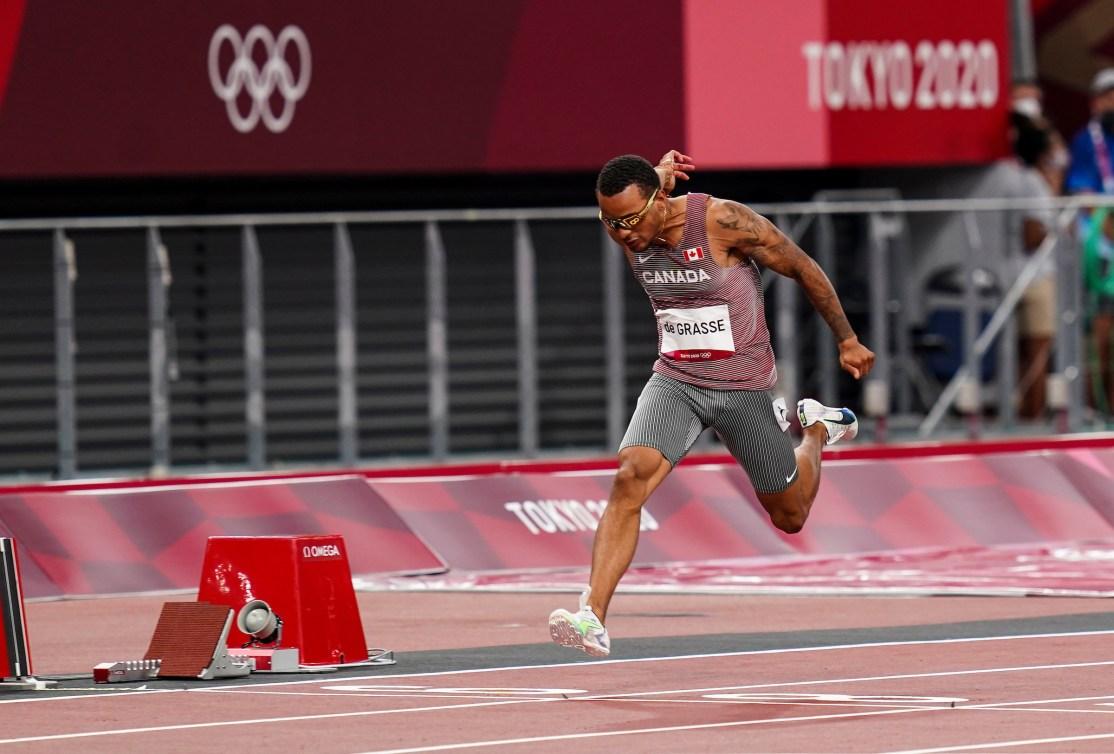 Andre De Grasse rungs 100m final