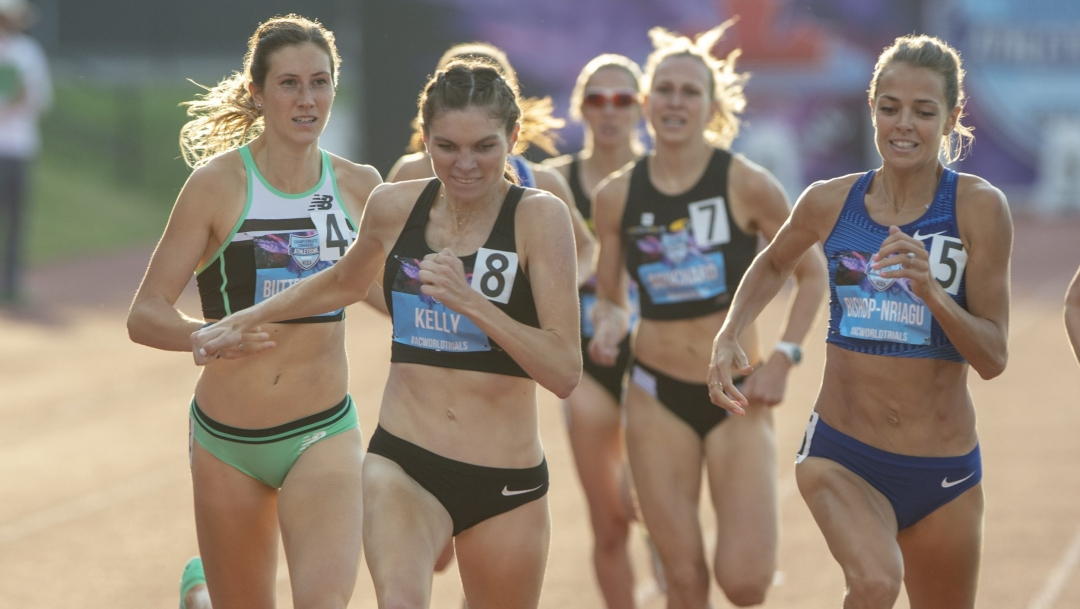 Lots of women running on track
