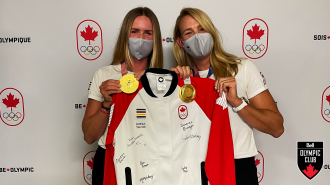 Win a podium jacket signed by Team Canada's gold medal-winning women's eight crew