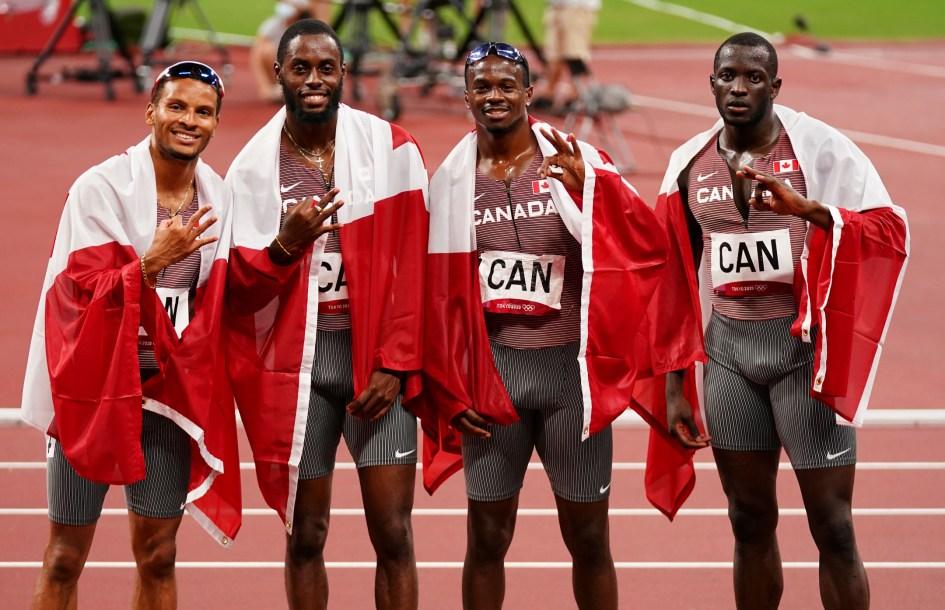 Men's 4x100m relay team celebrates bronze at Tokyo 2020