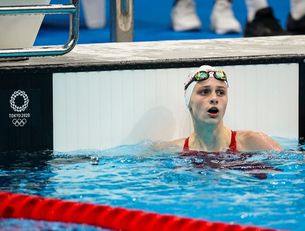 Summer McIntosh competes in the Women's 200m Freestyle