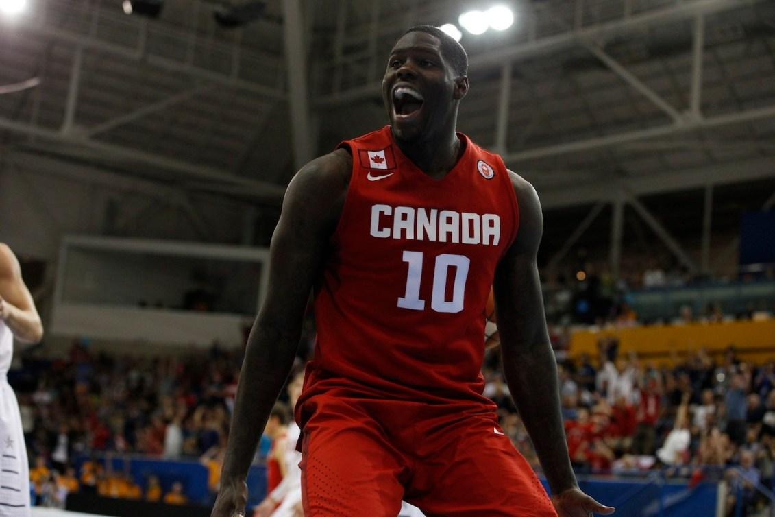 Athlète canadien célébrant