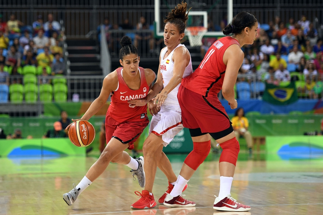 trois athlètes en pleine action à Rio