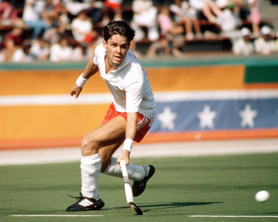 Trevor Porritt du Canada participe au hockey sur gazon aux Jeux olympiques de Los Angeles de 1984. (Photo PC/AOC)